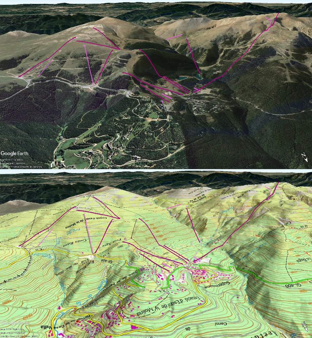 Vistas Google Earth La Molina 2017-18