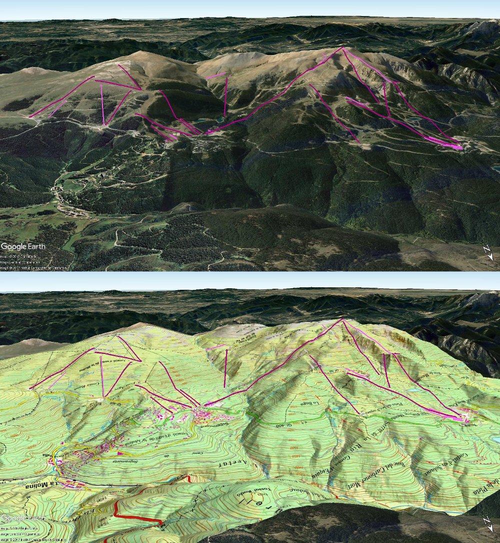 Vistas Google Earth Alp 2500 (La Molina+Masella) 2017-18