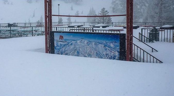 California rompe su record de nieve