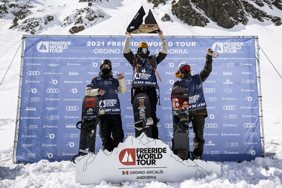 Snowboard hombres Freeride world Tour Ordino