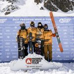 Podio ganadores del Freeride World Tour FWT Ordino Arcalis