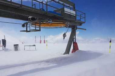 Sierra Nevada recibe la mayor cantidad de nieve de la primavera