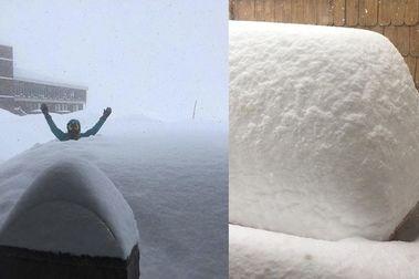 Cae Paquetón de nieve en los centros de ski