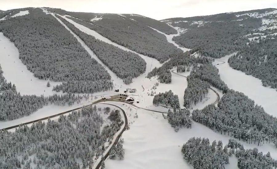 Vista aérea de la estación de esquí del Port del Comte