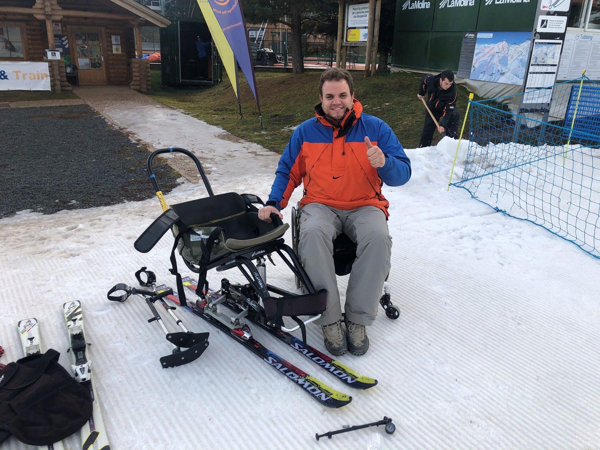 Silla de esquí adaptado