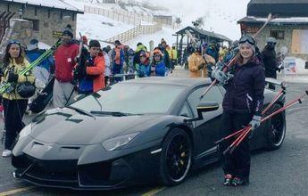 Cristiano Ronaldo deja tirado su Lamborghini en Navacerrada