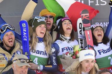Triplete italiano en el segundo Descenso femenino de Bansko 2020