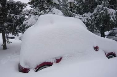 Primeras nieves en el Valle, Octubre 2009