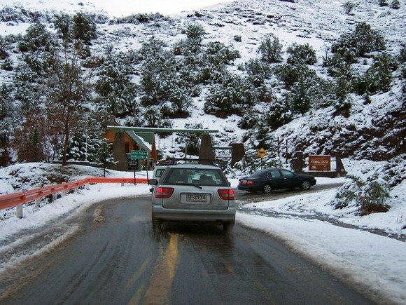 Curva 15, Reserva Yerba Loca, Camino a Farellones