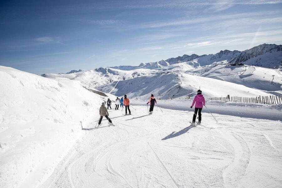 esquiadores en Grandvalira