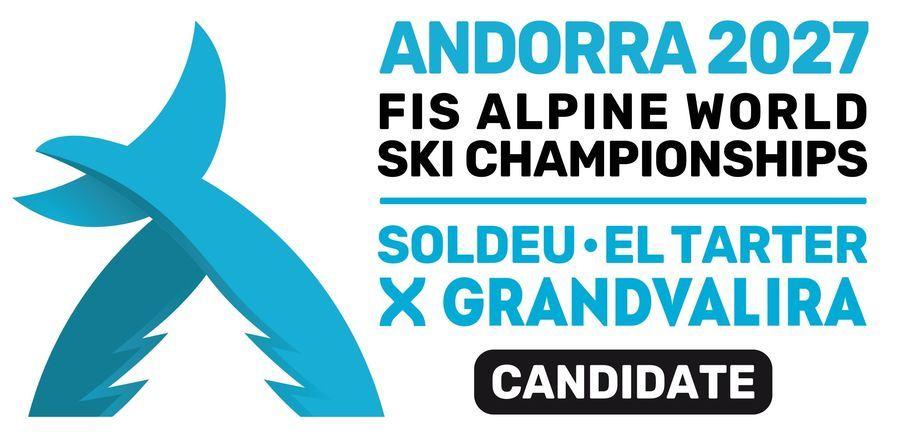 Logotipo de los Campeonatos del Mundo Andorra 2027