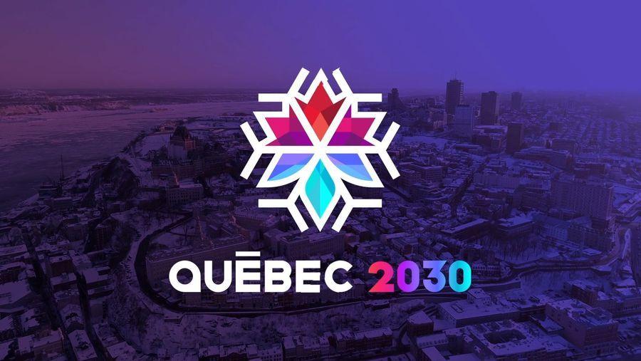 Logo de Quebec 2030 Juegos Olímpicos de invierno