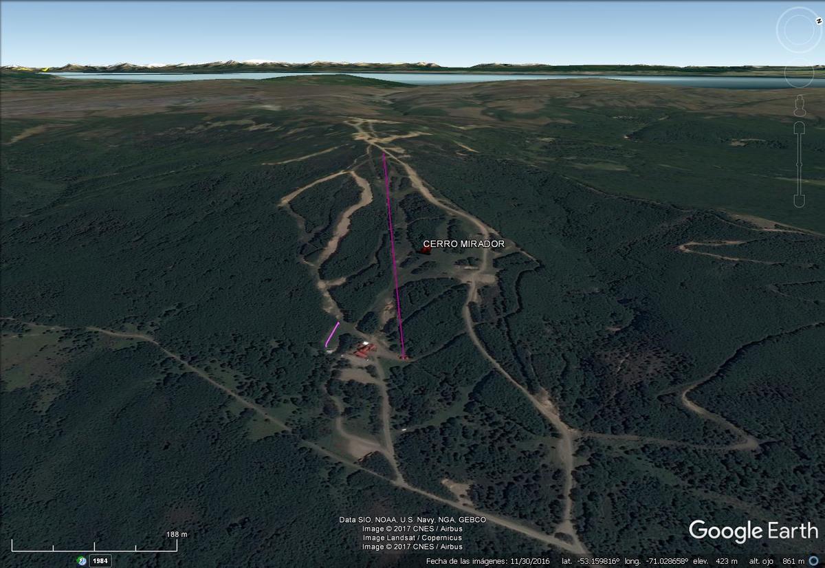 Vista Google Earth Cerro Mirador 2017