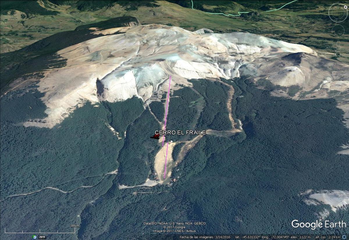 Vista Google Earth El Fraile 2017