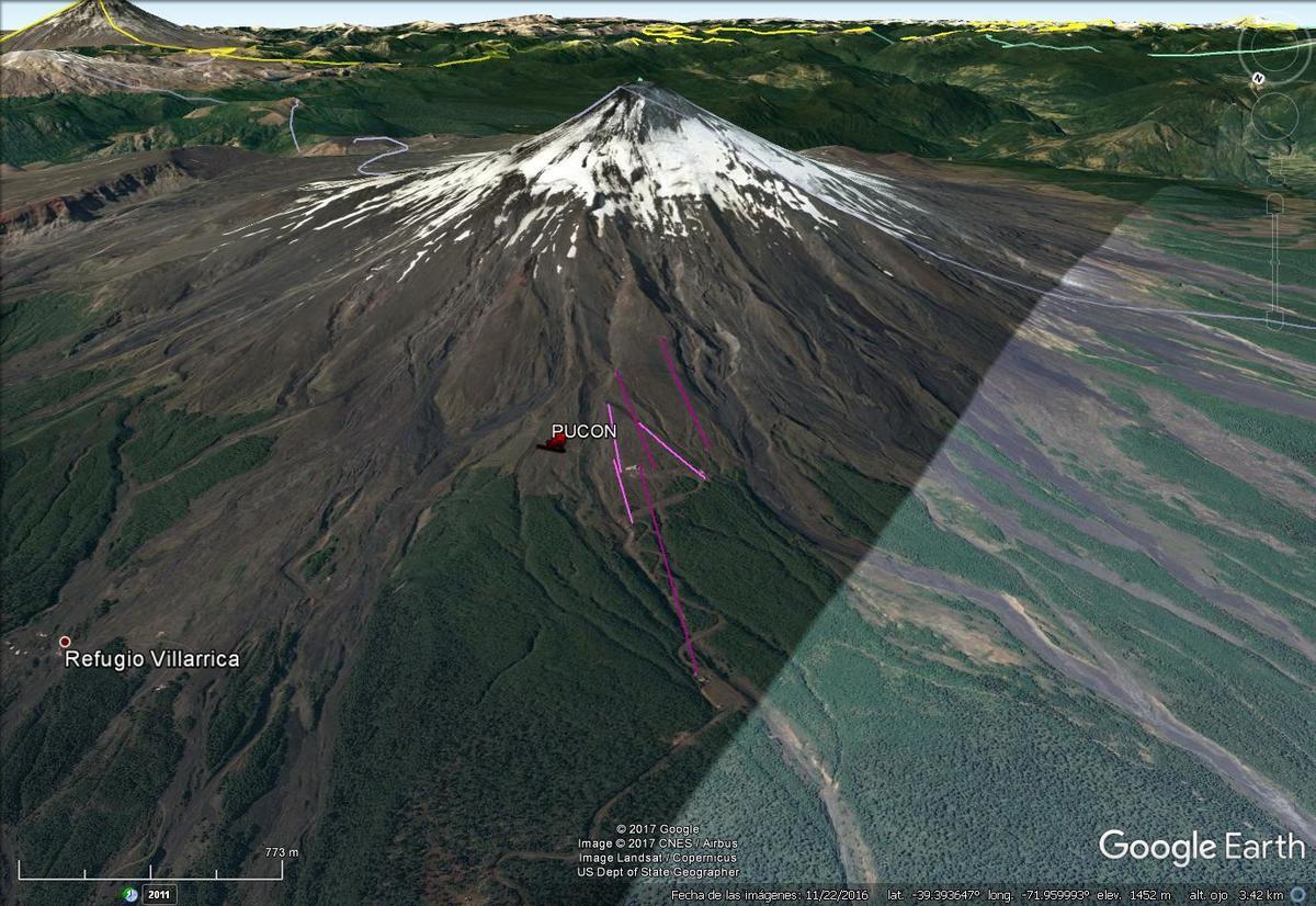 Vista Google Earth Pucón 2017