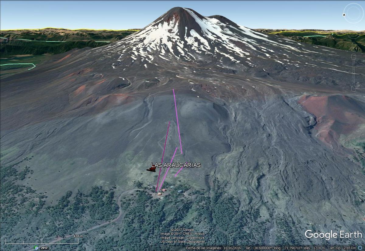 Vista Google Earth Las Araucarias 2017