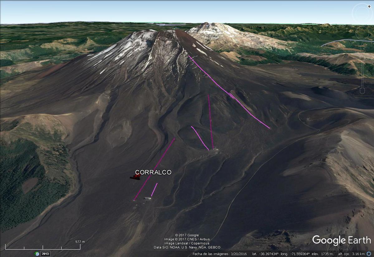 Vista Google Earth Corralco 2017