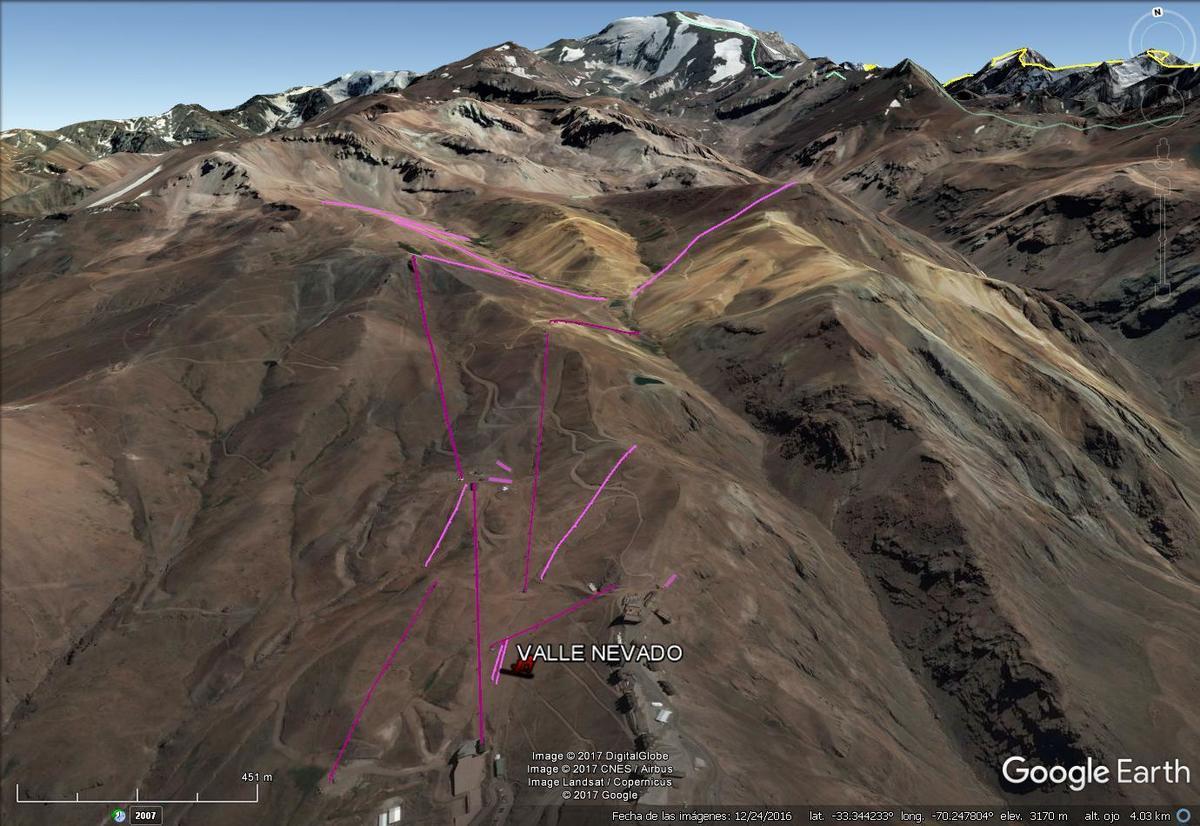 Vista Google Earth Valle Nevado 2017