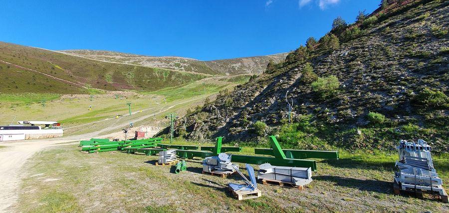 Obras nuevo telesilla en Valdezcaray