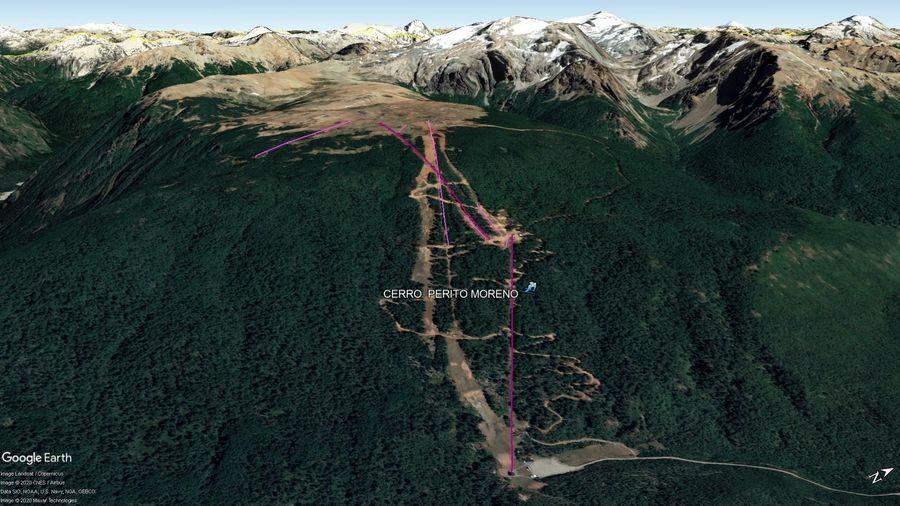 Vista Google Earth Perito Moreno 2020