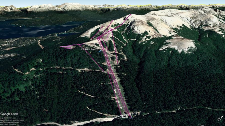 Vista Google Earth Cerro Bayo 2020