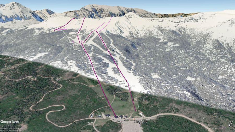 Vista Google Earth Chapelco 2020