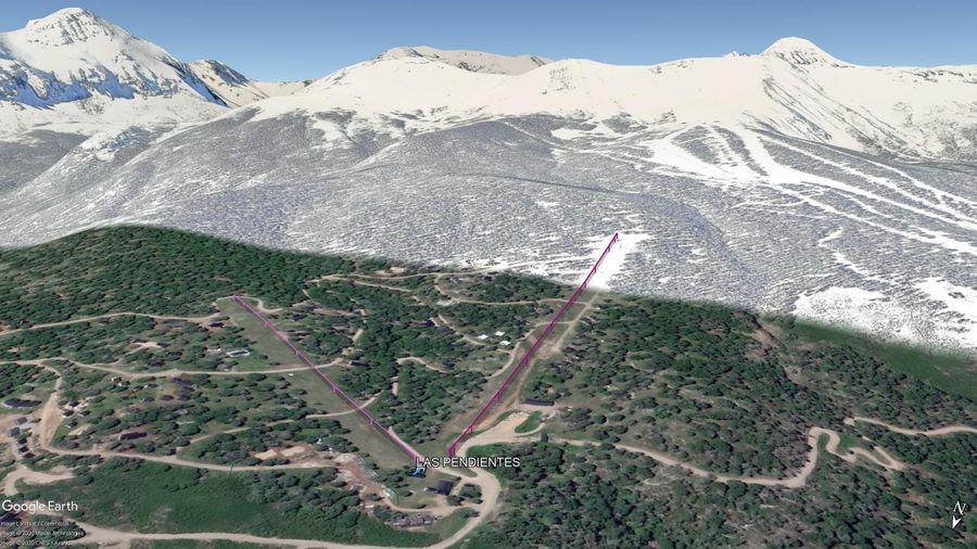 Vista Google Earth Las Pendientes 2020