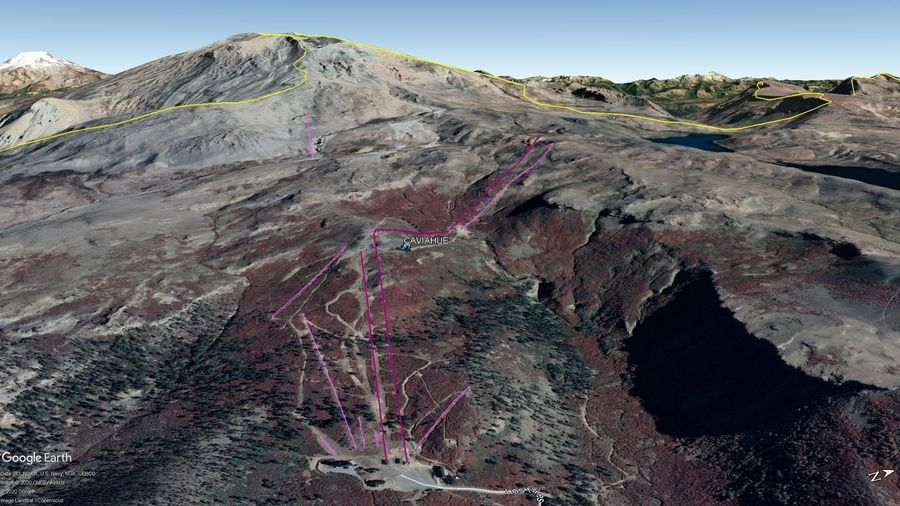 Vista Google Earth Caviahue  2020