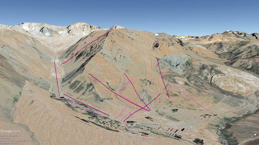 Vista Google Earth Las Leñas  2020