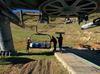 Retirada de 20 pilonas y hierros de las pistas de Valgrande-Pajares