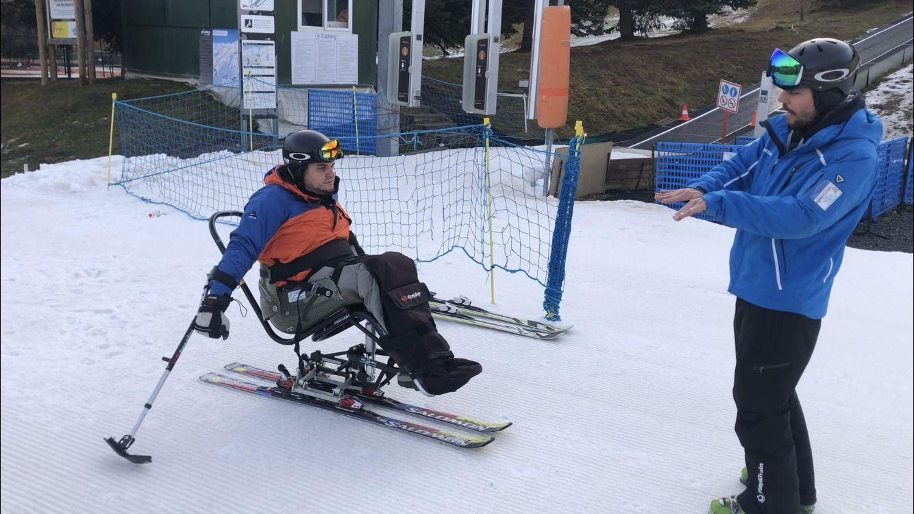 silla esquí adaptado