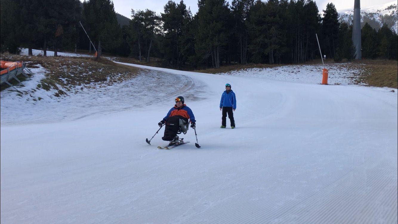 esquí en silla