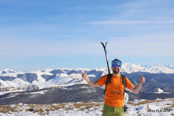 Ortzanzurieta desde Roncesvalles con esquís