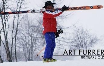 Art Furrer: el cowboy suizo cumple 80 años con nuevos esquís de 4 metros