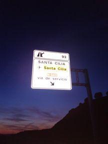 CARTEL  COLOCADO EN SANTA  CILIA