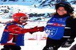 Jaime Almenar y Alicia Grijelmo Brillantes en el campeonato de España de Esquí Alpino Adaptado
