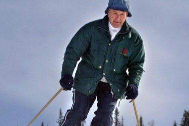 Olaf Rodegård. El profesor de esquí en los años 30.