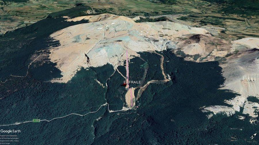 Vista Google Earth El Fraile 2019