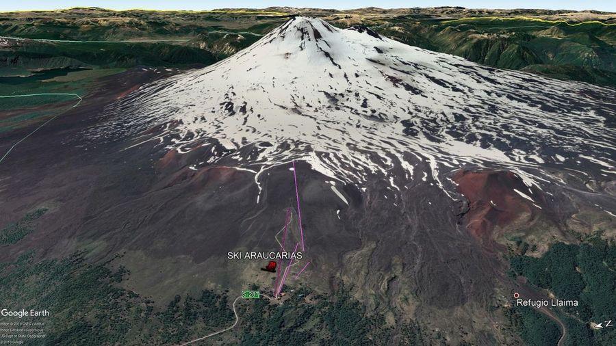 Vista Google Earth Ski Araucarias 2019
