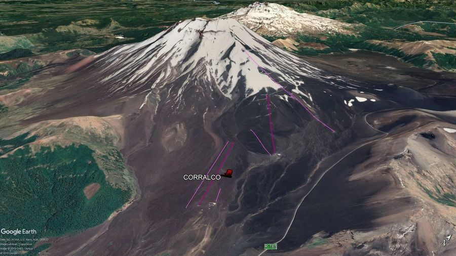 Vista Google Earth Corralco 2019