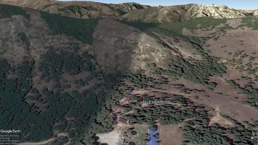 Vista Google Earth Valle Hermoso 2019