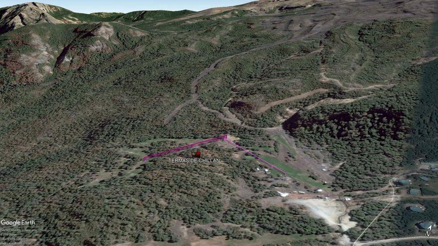 Vista Google Earth Termas de Chillán 2019