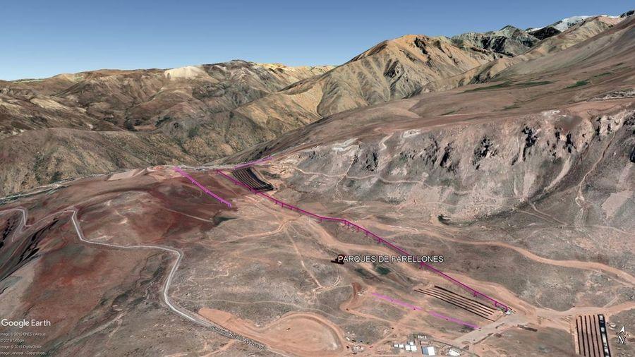 Vista Google Earth Parques de Farellones 2019