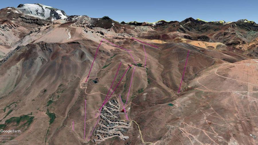 Vista Google Earth La Parva 2019