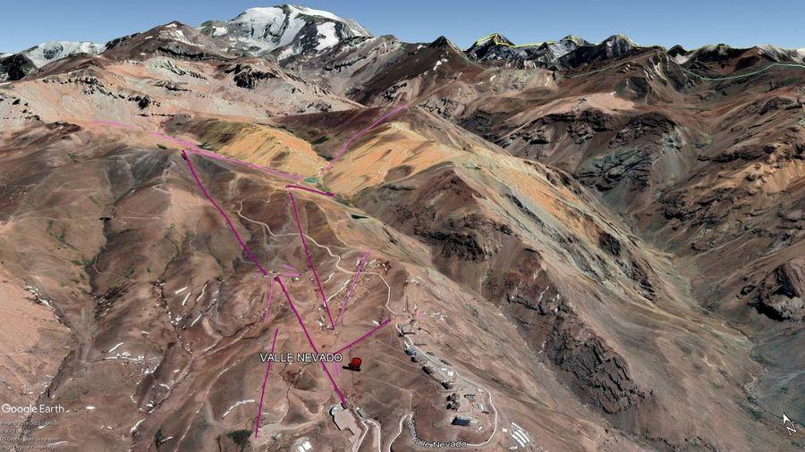 Vista Google Earth Valle Nevado 2019