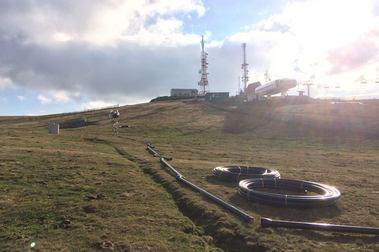 Manzaneda comienza a instalar su sistema de nieve artificial
