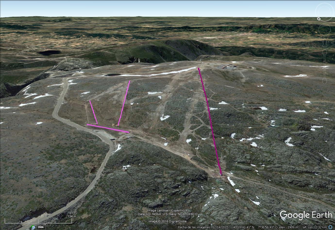 Vistas Google Earth Serra da Estrela 2016-17