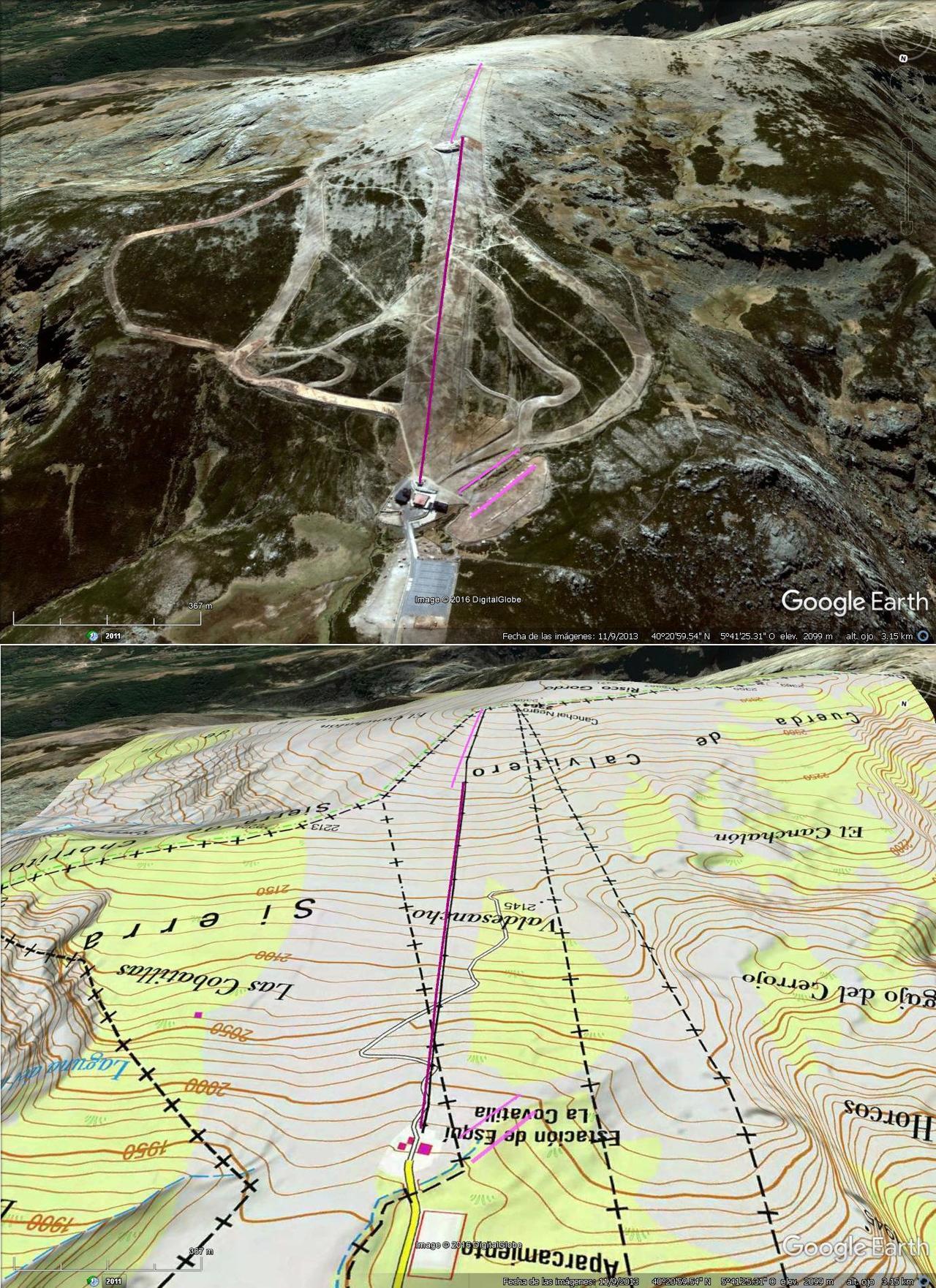 Vistas Google Earth Sierra de Béjar 2016-17