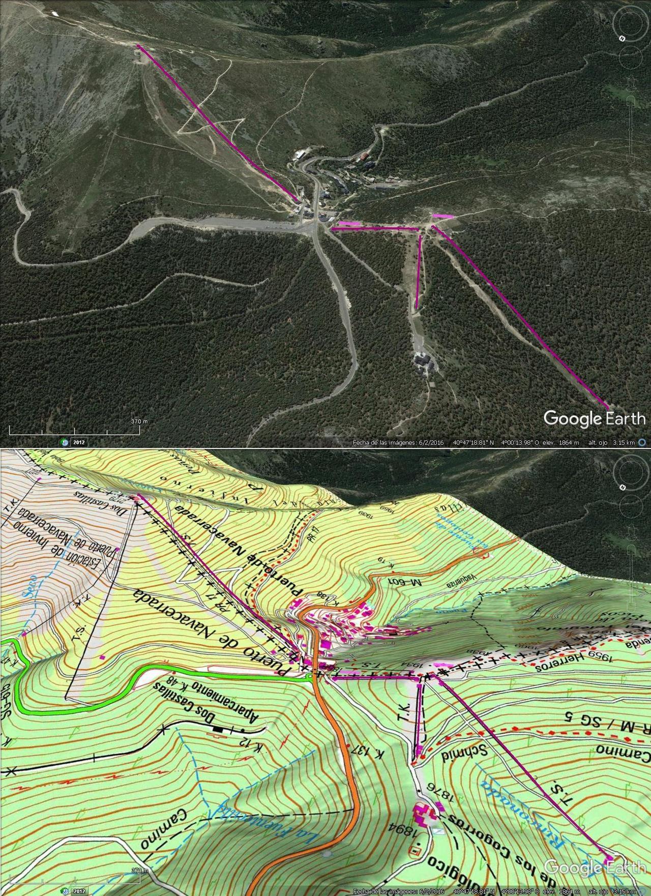 Vistas Google Earth Puerto de Navacerrada 2016-17