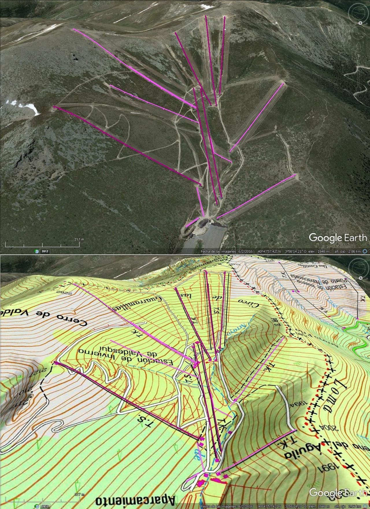 Vistas Google Earth Valdesquí 2016-17